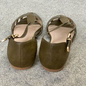 Paprika Shoes - Paprika Olive Khaki Closed Toe Gladiator Sandals